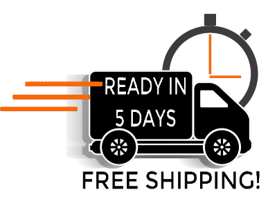 Ceramic glass ships free! Ready for shipment in 5 days!