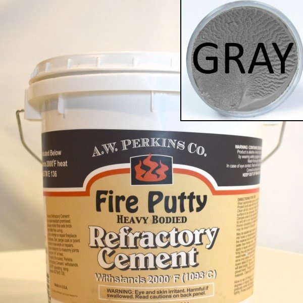 High Temperature Fire Putty Cement Gray 3 5 Gallon