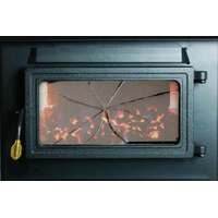 Coal Stove Glass