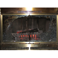 Tempered Glass for Fireplace Doors