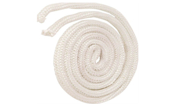 """1/4""""-5/16 Inch White Fiberglass Rope Gasket Sold By The Foot"""