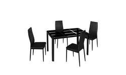 Rectangle Tempered Glass Dining Table - TABLE ONLY!