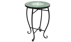 Mosaic Stained Glass Green Surface Flower Stand