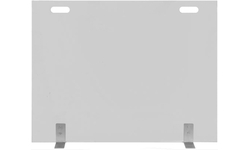 Elice Custom Size Fireplace Screen With Clear Tempered Glass And Handle Cut Outs