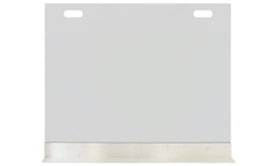 Elice Custom Size Fireplace Screen With Clear Tempered Glass With Handle Cutouts And Base