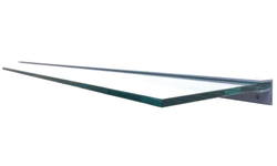 96 Inch Wide Clear Tempered Glass Mantel Shelf