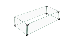 """Linear Tempered Glass Windshield 53-1/2"""" Long x 11-1/2"""" Wide"""
