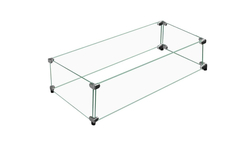 """Linear Tempered Glass Windshield 65-1/2"""" Long x 11-1/2"""" Wide"""