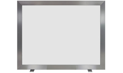 Trieste Brushed Nickel Fireplace Screen With Tempered Clear Glass