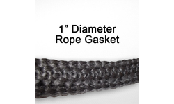"1"" black graphite impregnated rope gasket for wood stoves."