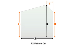 R2 Specialty cut pyroceramic glass for wood stoves