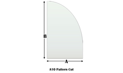 A10 Specialty cut pyroceramic glass for wood stoves