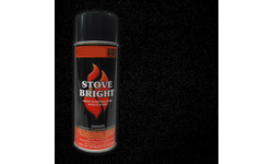 High Temp Spray Can Stove Paint - Metallic Black