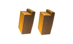 2.5 x 5.6 x 3 Inch Rectangular Uncanned Notched Catalytic Combustor CC-306 Set of Two