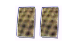 2.2 x 7 x 2 Inch Rectangular Canned Catalytic Combustor CC-214 Set of Two