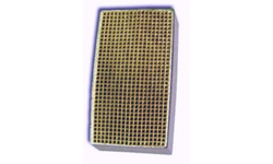 2 x 10.4  x 2 Inch Rectangular Canned Catalytic Combustor CC-169