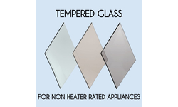 Tempered Glass - Replacement Fireplace Door Glass