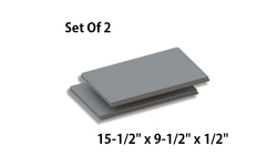 Set Of 2 Baffle Boards For QuadraFire 43ST-ACC & 43M-ACC [SRV7037-112]