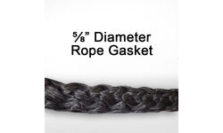 5/8 inch black graphite impregnated rope gasket for wood stoves