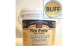 3.5 gallon bucket of Fire Putty Refractory Cement - Buff