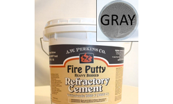 High temp castable refractory cement - 3.5 Gallon, Gray