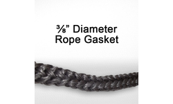 "3/8"" black graphite impregnated rope gasket for wood stoves."