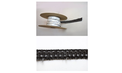 Black adhesive window gasket for wood stoves
