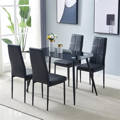 Glass Dining Table Black (only table)