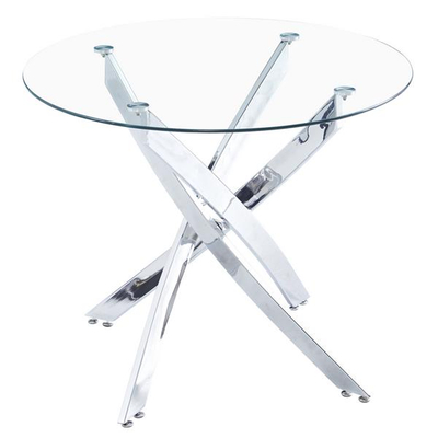 Round Transparent Glass Dining Table
