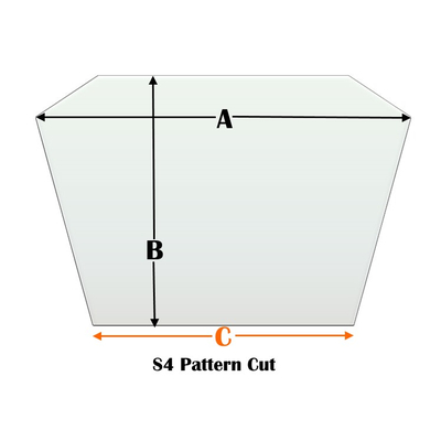 S4 Specialty cut pyroceramic glass for wood stoves