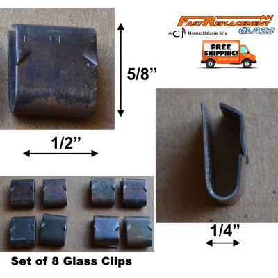Glass Retainer Clips For Fireplace Doors Set Of 8