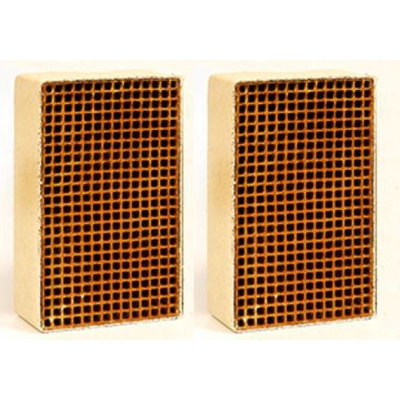 1.9 x 6.8 x 1 Inch Rectangular Uncanned Catalytic Combustor CC-176 Set of Two