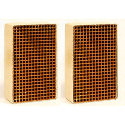 2.5 x 7.5 x 3 Inch Rectangular Uncanned Catalytic Combustor CC-252 Set of Two