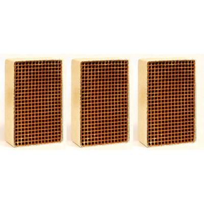 1.9 x 3.4 x 2 Inch Rectangular Set of Three Uncanned Catalytic Combustor CC-217