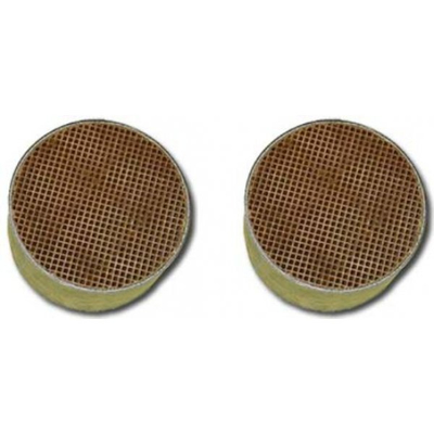 5.7  x 1.5 Inch Round Uncanned Catalytic Combuster CC-008 Set of Two