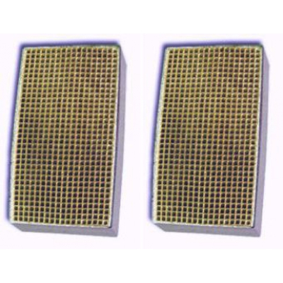 2 x 7 x 2 Inch Rectangular Canned Catalytic Combustor CC-160 Set of Two
