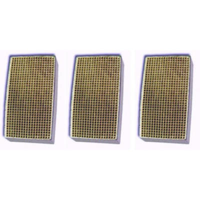 2 x 7 x 2 Inch Rectangular Canned Catalytic Combustor CC-163 Set of Three