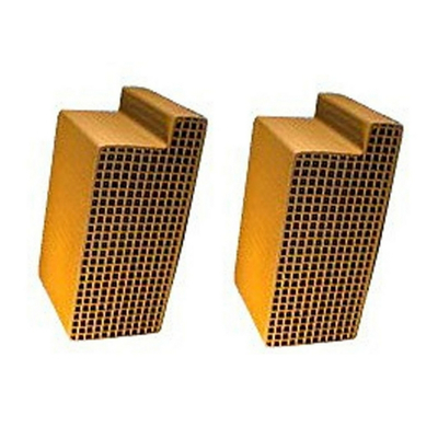 2.5 x 6.8 x 3 Inch Uncanned Notched Catalytic Combustor CC-301 Set of Two