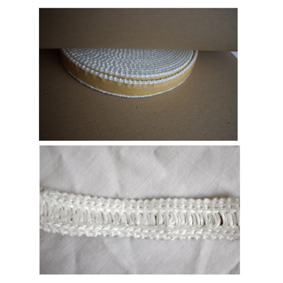 White adhesive window gasket for wood stoves