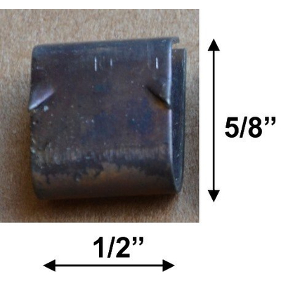Glass retainer clips are 5/8 inch high and 1/2 inch wide.