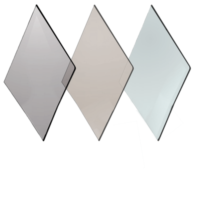 Replacement fireplace glass for non heater rated appliances - available in clear, bronze, or grey tint.