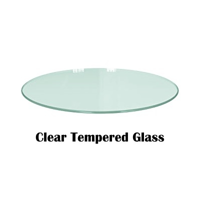 Clear Tempered Glass Circle Pattern