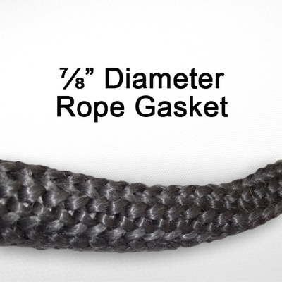 "7/8"" black graphite impregnated rope gasket for wood stoves."